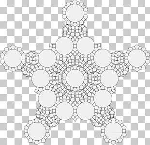 Doily Circle Place Mats Symmetry Pattern PNG