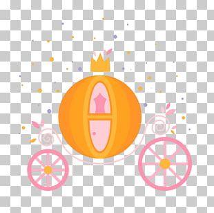 Hand-painted Cartoon Pumpkin Car PNG