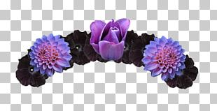 Flower Crown Headband Purple Rose PNG
