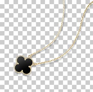 Van Cleef & Arpels Charms & Pendants Necklace Colored Gold PNG