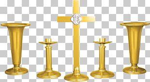 Altar Crucifix 01504 Candlestick PNG