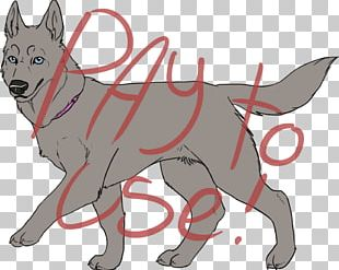 Dog Breed Cartoon Line Art PNG