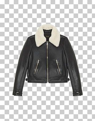 Leather Jacket Coat Leather Jacket Blouson PNG