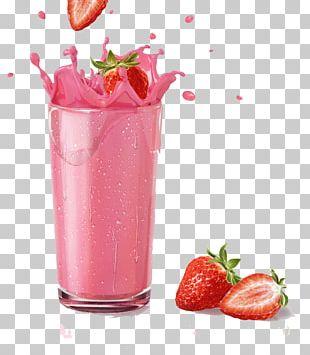Milkshake Smoothie Strawberry Juice Chocolate Milk PNG