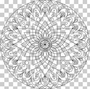 Mandala Coloring Book Child Meditation PNG
