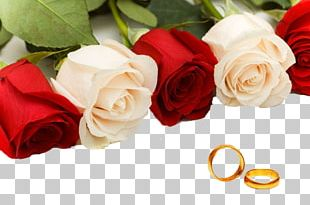 Rose Wedding Ring Flower Bouquet PNG