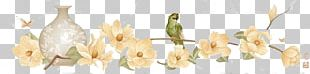 Cut Flowers Candlestick PNG