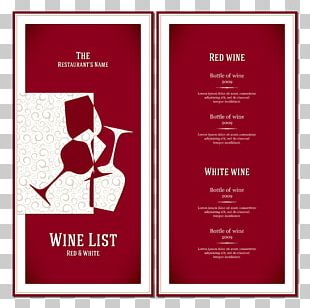 Red Wine Cafe Wine List Menu PNG