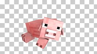 Minecraft Pig Lying Down PNG