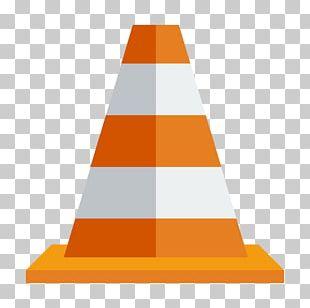 Triangle Cone Orange PNG