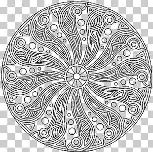 Mandala Coloring Book Child PNG