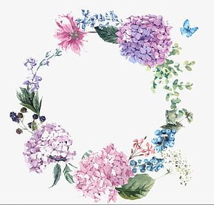 Hand-painted Watercolor Flower Design PNG
