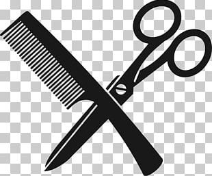 Comb Barber Scissors Beauty Parlour PNG