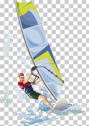 Windsurfing Kitesurfing Illustration PNG