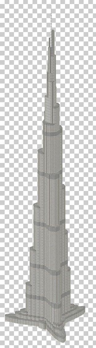 Burj Khalifa Steeple Black And White Skyscraper PNG