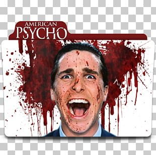 Christian Bale American Psycho Patrick Bateman YouTube Poster PNG