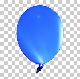 Electric Blue Cobalt Blue Hot Air Balloon PNG
