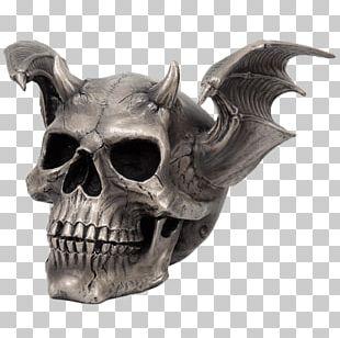 Skull Horn Skeleton Figurine Bone PNG