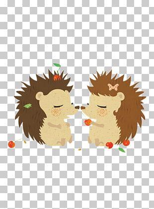 Hedgehog Greeting Card Postcard Love Illustration PNG