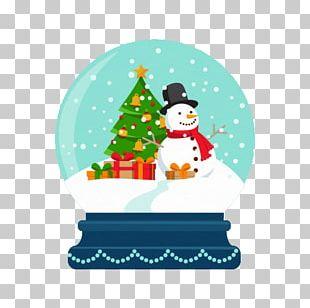 Snowman Snow Globe Christmas Ball PNG