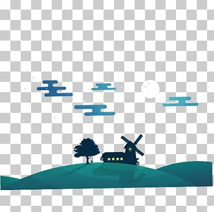 Blue Text Cartoon Sky Illustration PNG