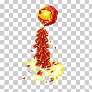 Chinese New Year New Year's Eve Firecracker PNG