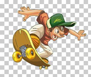 Cartoon Skateboarding PNG