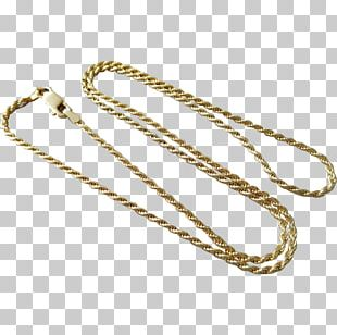 Chain Metal Necklace PNG