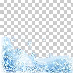 Snowflake Christmas Flower Pattern PNG