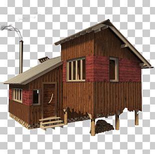 Log Cabin House Cottage Building Plan PNG
