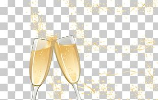 Champagne Glass Yellow PNG