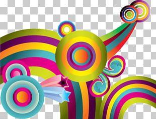 Color Circle Abstract Art PNG