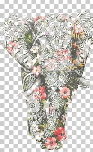 Elephant Pattern PNG
