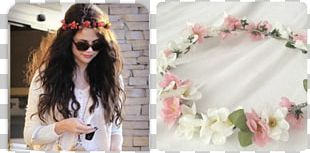 Flower Crown Wreath Headband Pink PNG