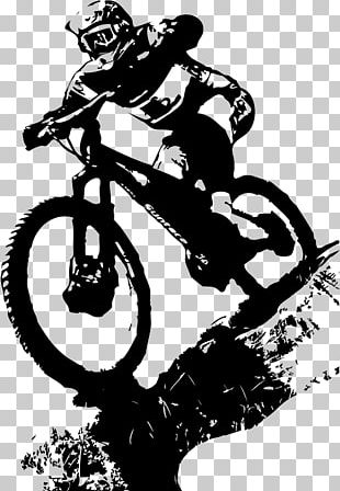 Downhill Mountain Biking Bicycle Cycling Mountain Bike PNG