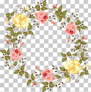 Watercolour Flowers Wreath Watercolor Painting PNG