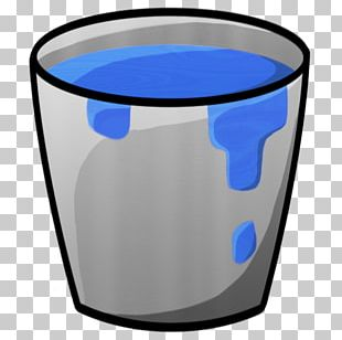 Electric Blue Water Glass PNG