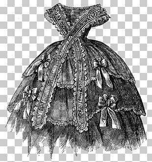 Victorian Era Dress Vintage Clothing Victorian Fashion Pattern PNG