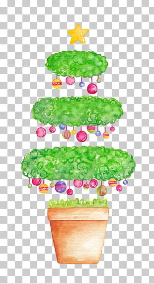 Watercolor Painting Tree Illustration PNG
