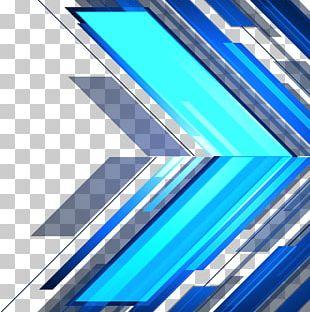 Blue Line Geometric Shape PNG