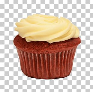 Cupcake Red Velvet Cake Cream Frosting & Icing Muffin PNG