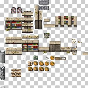 Tile-based Video Game House Plan Furniture PNG