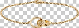 Love Bracelet Cartier Chain Colored Gold PNG