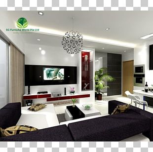 Interior Design Services Living Room Table Wall Television PNG