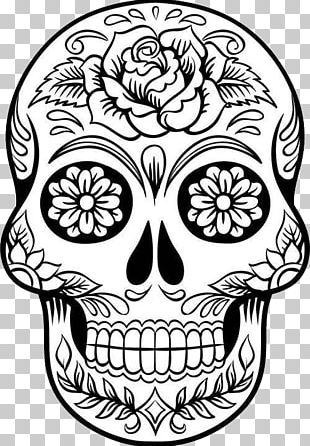 Calavera Drawing Coloring Book Skull Day Of The Dead PNG