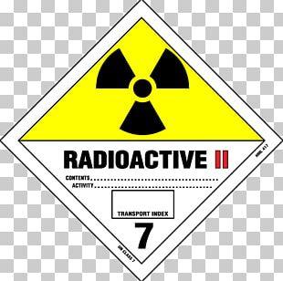 Paper Label Dangerous Goods HAZMAT Class 7 Radioactive Substances Radioactive Decay PNG