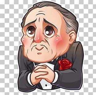 Vito Corleone Telegram Sticker The Godfather PNG