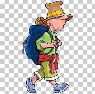 Backpacking Travel Cartoon PNG