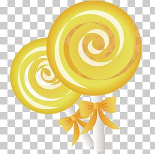 Lollipop Yellow Food Candy PNG