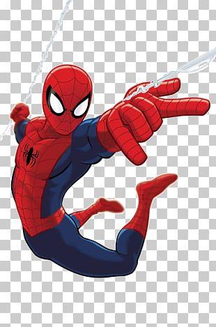 Spiderman Flying Between Buildings PNG